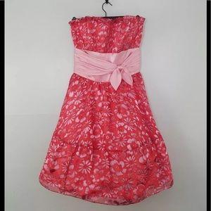 Betsey Johnson floral silk blend dress size 4